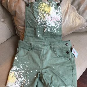Girls Cat & Jack short overalls